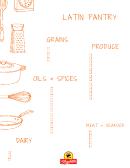 Latin Pantry Grocery List