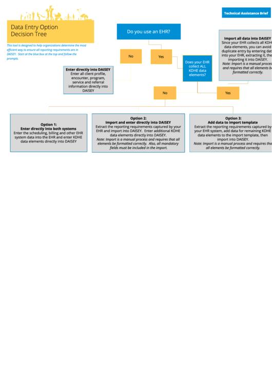 Data Entry Option Decision Tree