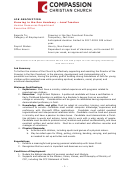 Lead Teacher Job Description Template