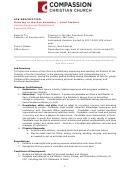 Lead Teacher Job Description Template