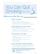 Quitting Smoking Planner: