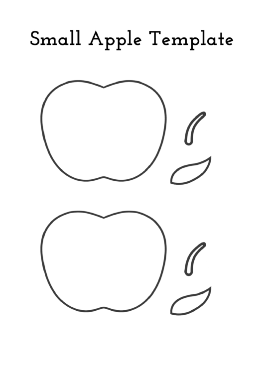 Small Apple Template