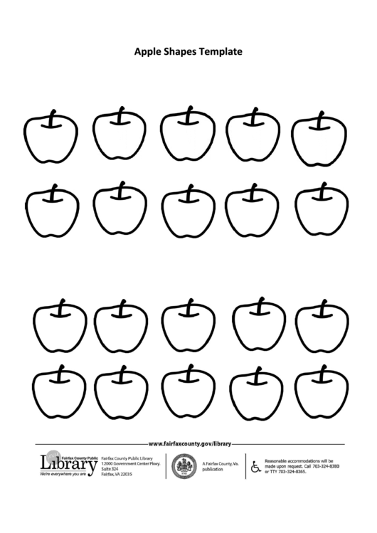 Apple Shapes Template