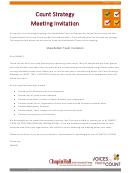 Stakeholder Team Invitation Template