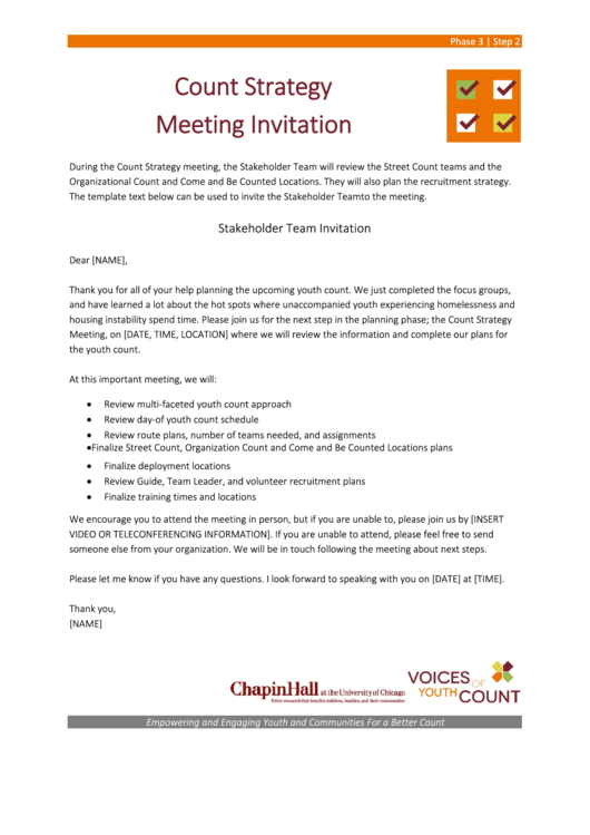 Stakeholder Team Invitation Template Printable pdf
