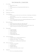 Basic Technology Plan - A Sample Outline