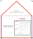 7x5 Envelope Liner Template