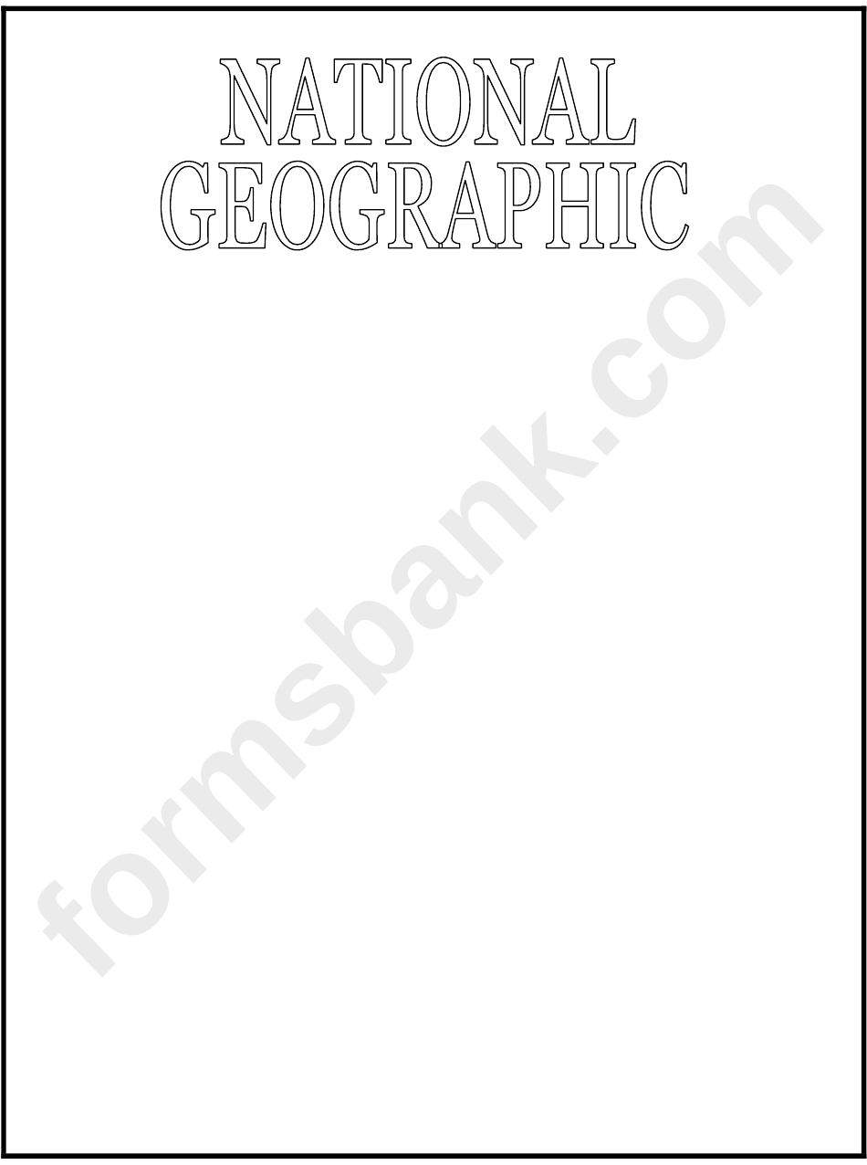 Sample National Geographic Cover Template Printable Pdf