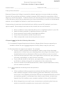 Sample Satisfactory Academic Progress Appeal Letter Template