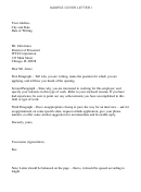 Sample Cover Letter Templates