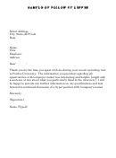 Sample Of Follow-up Letter - Purdue University