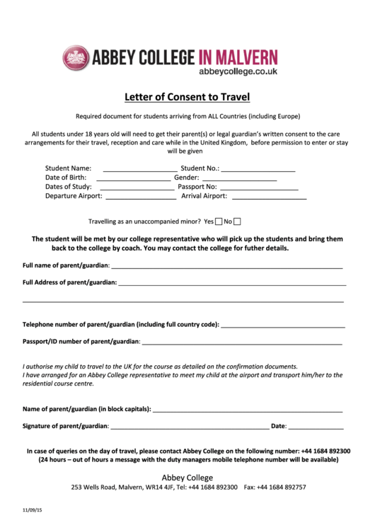 33 Letter Consent Free To Download In Pdf
