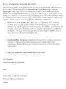 Winning Scholarship Application Letter Template