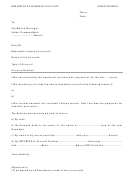 Request For Closure Of Account Form