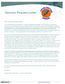Sample Sponsor Request Letter Template
