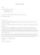 Sample Foia Request Letter Template