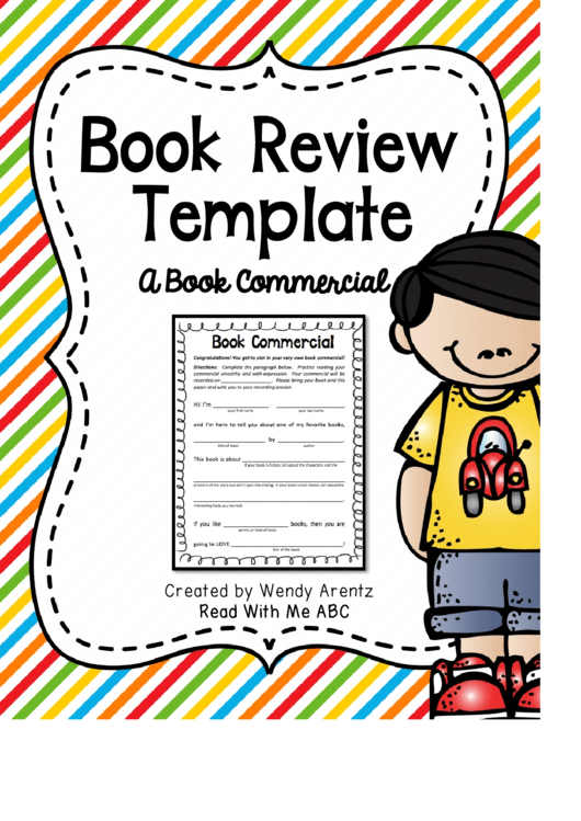 Book Commercial Review Template Printable pdf