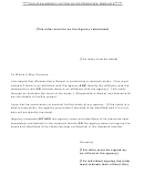 Agency Letter Of Cooperation Template