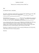 Business (b-1) Or Business Waiver (wb) Visa Invitation Letter - Sample