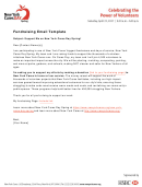 Fundraising Email Template