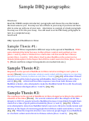 Sample Dbq Outline Template