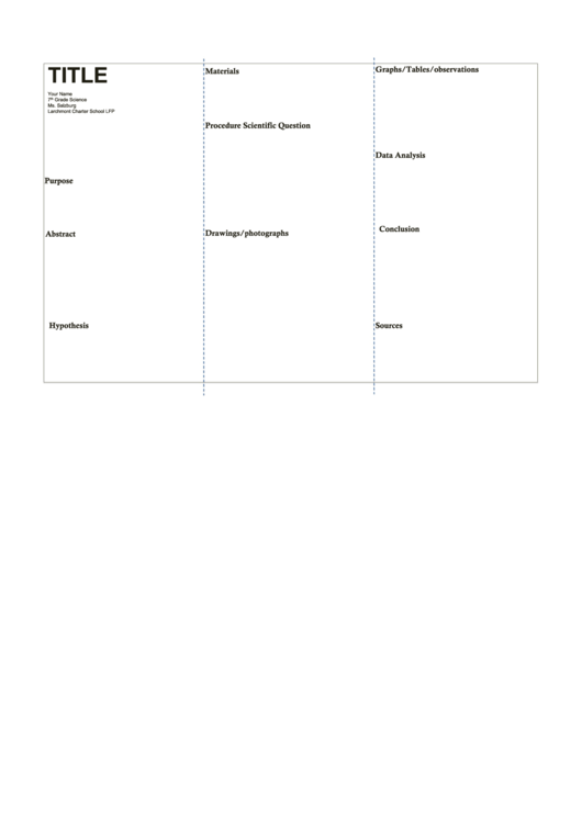 Science Fair Poster Template