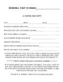 Trip Lumper Receipt Template