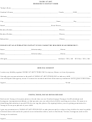 Sample Student Emergency Contact Form