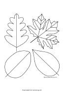 Simple Leaf Templates
