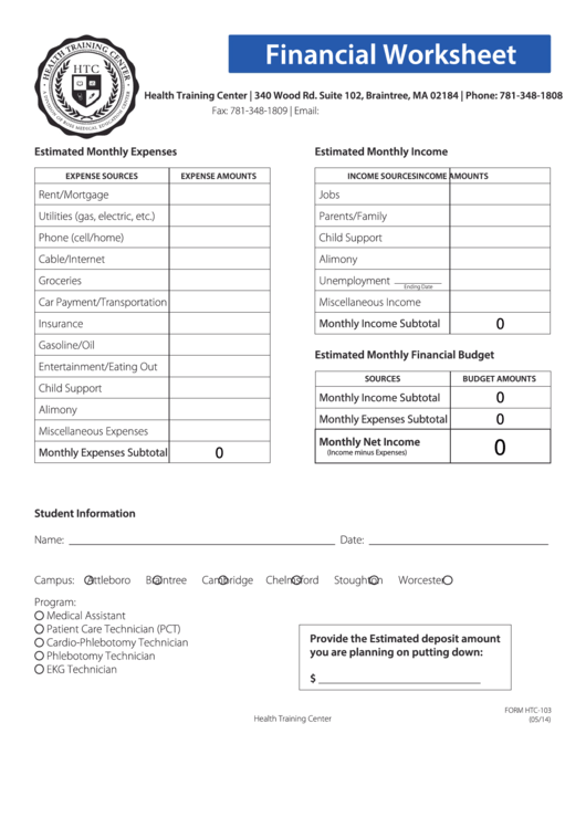 Top 10 Financial Worksheet Templates Free To Download In Pdf Format