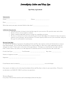 Vision Salon And Spa Agreement Template