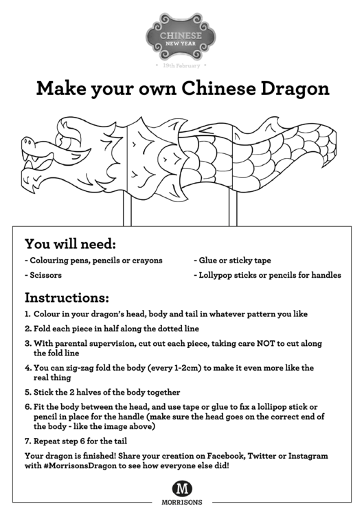 make your own chinese dragon template printable pdf download