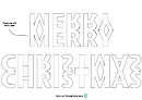 Mini Washi-tape Christmas Banner Template