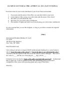 Sample Letter For Pre-approval Of Leap Funding