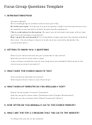 Focus Group Questions Template