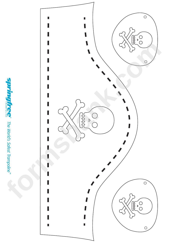 pirate hat template printable pdf download