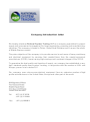 Sample Company Introduction Letter Template