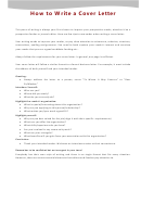 Cover Letter - Sample