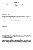 Company Letter Advising Employee Of Appeal Decision (sample)