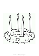 Simple Advent Wreath Coloring Sheet