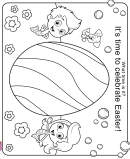 Bubble Guppies Easter Coloring Sheet