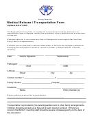Medical Release/transportation Form