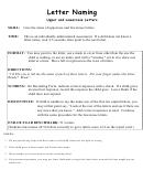 Letter Naming Worksheet - Upper And Lowercase Letters