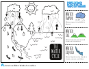 Water Cycle Coloring Sheet