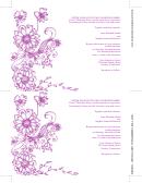 Floral Garden Wedding Invitation Template (fillable)