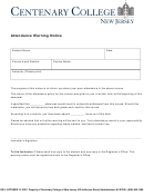 Attendance Warning Notice Template