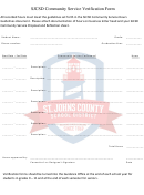 Sjcsd Community Service Verification Form