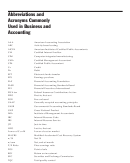 Abbreviations And Acronyms Commonly Used In Business And Accounting
