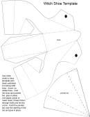 Foldable Witch Shoe Template