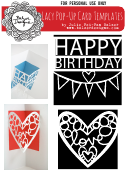 Lacy Pop-up Card Templates